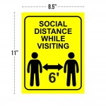 COVID-19 Removable Decal - Social Distancing