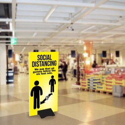 Social Distancing Free-Standing Sign