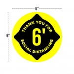 Social Distancing Floor Decals - Small Circle - Set of 8