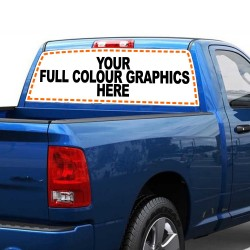 Vehicle Graphics - See-Through Rear Window Graphics