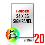 Sign Panel - 24x36 - 1-sided